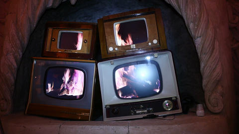 tv interior Stock Video Footage