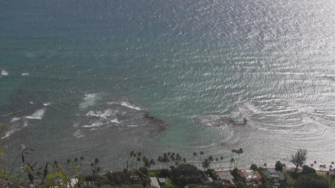 look down sea01 Stock Video Footage