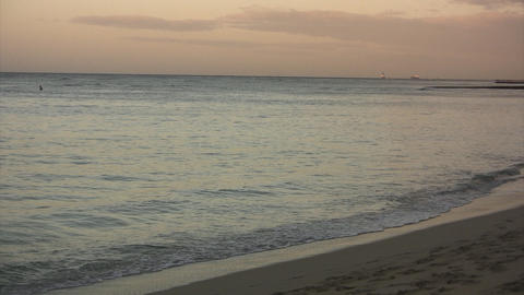 Morning Waikiki Beach01 Stock Video Footage
