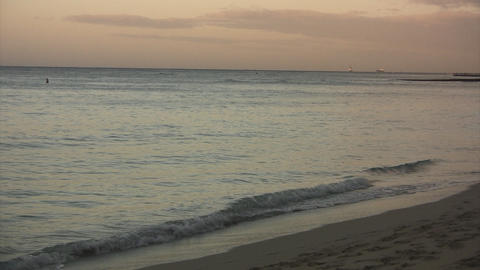 Morning Waikiki Beach01 Stock Video Footage