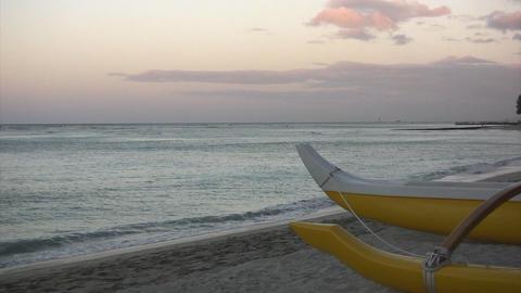 Morning Waikiki Beach02 Stock Video Footage