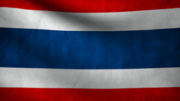 Thailand  Flag. stock footage