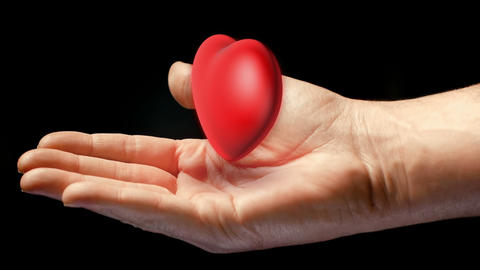 Heart In Hand stock footage