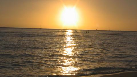 sunset beach03 Stock Video Footage