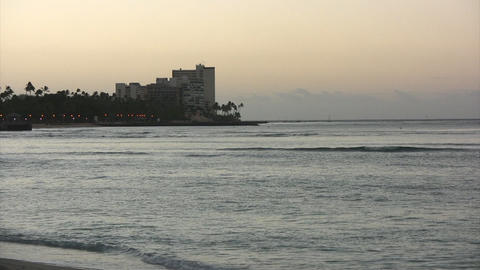 Morning Waikiki Beach04 Stock Video Footage