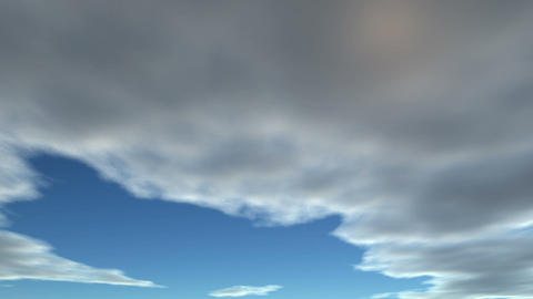 Clouds fly on the sky Stock Video Footage