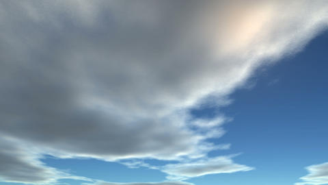 Clouds Fly On The Sky stock footage