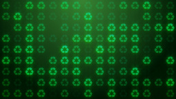 Recycle Symbol Loop Background stock footage