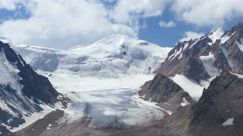 Snowy Peaks Glaciers 4K Animation