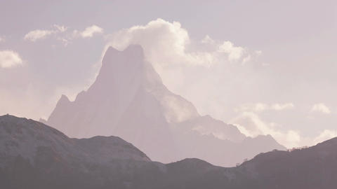 Ama Dablam Peak Sunrise Time Lapse Zoom 4K Animation