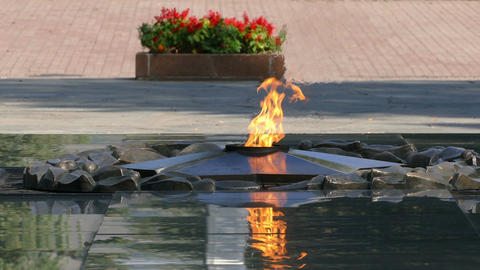 Eternal Flame Almaty 4K Footage