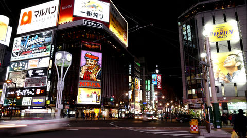 Sapporo Susukino intersection 4K Live Action