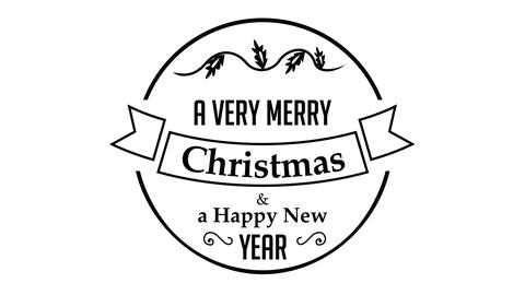 A Very Merry Christmas And A Happy New Year Text Title Animation