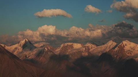 Peaks Sunset Mountains 4K Zoom Animation