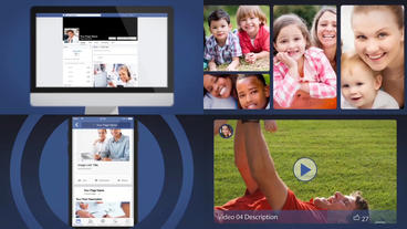 Facebook Presentation - After Effects Template After Effectsテンプレート