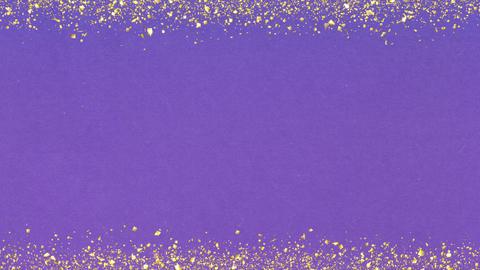 Golden-confetti-frame Purple Animation