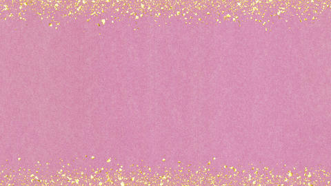 Golden-confetti-frame Pink Animation