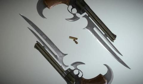 Gun blade 2 3D Model