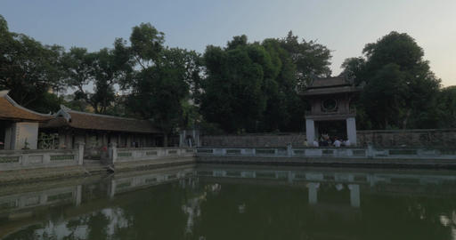 Pool in the Temple of Confucius. Hanoi, Vietnam Footage