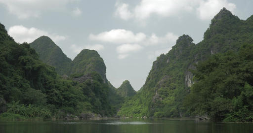 In Trang an bai in Hanoi, Vietnam seen picturesque landscape of river Footage