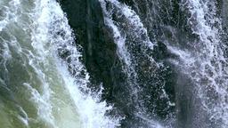 Slow Motion Cascading Waterfalls Tilt Close Footage