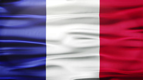 Realistic Seamless Loop Flag of France Waving In The Wind With Highly Detailed F Animation