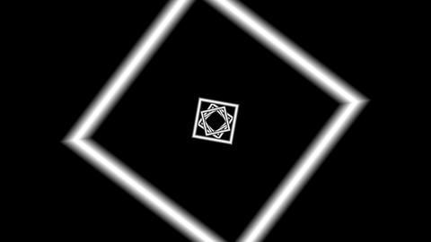 Collapsing rotating squares Animation