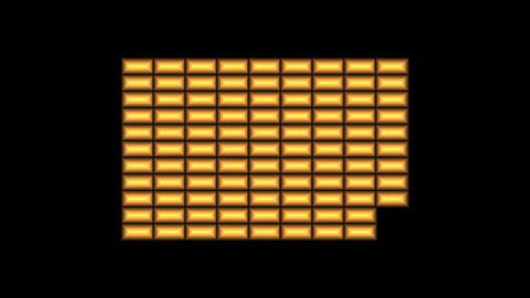 Animated metallic bars Animation