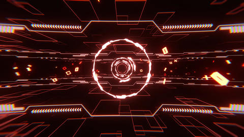 VJ loop bg bga cg DJ bms Abstract cyber tunnel particle [There is another version] Animation