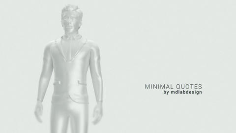Human Minimal Quotes After Effects Template
