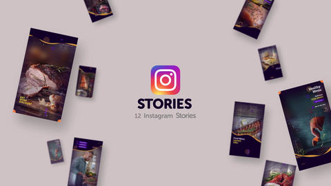 Instagram Stories: Food Delivery After Effects Template