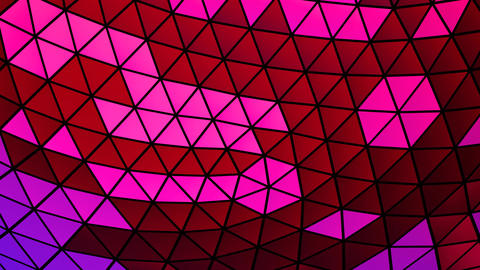 Abstract Mosaic Animation With Triangles Animation