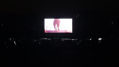 Cinema screen in movie theater cars Live Action