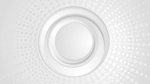 Grey circles and halftone beams video animation Animation