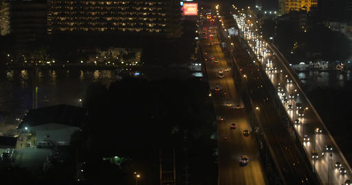 Evening panorama of the city of Bangkok, Thailand Footage