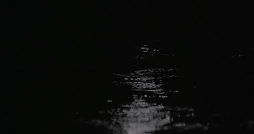 Rain puddles and falling drops against car city lights Footage