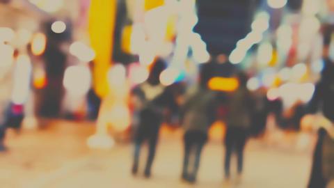 夜の御徒町、路地を駆け抜ける高速ムービー。 ビデオ