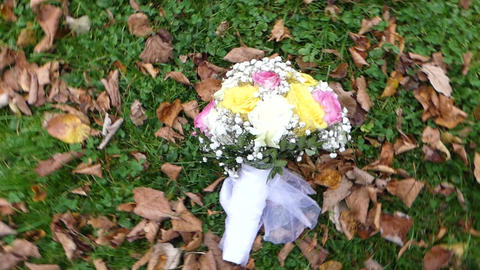 Wedding flowers bouquet Footage