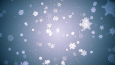 Beautiful Winter Snowflakes Motion Background Animation