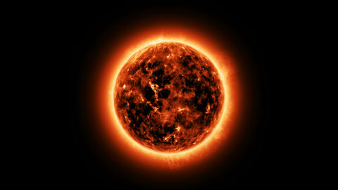 The sun with atmosphere solar Animation