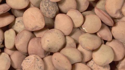 Close-up rotation of lentils. Macro image. 4K video. Organic legumes Live Action