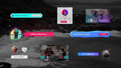 Tik Tok Subscribe Elements After Effects Template