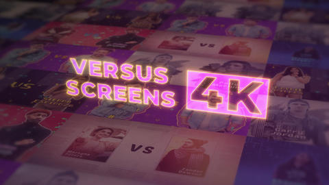 VS Versus Screens V.3 4K After Effects Template