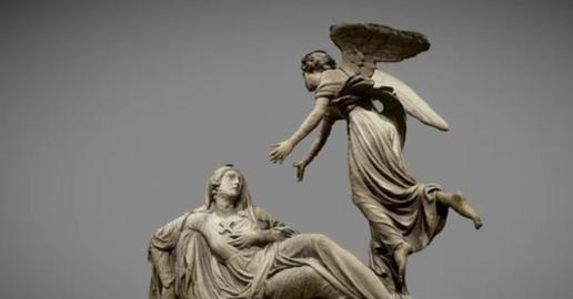 Funerary Monument of comtess Louise de Celles 3D Model