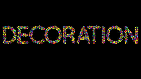 Dynamic Christmas Ornament text the word Decoration Animation