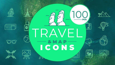 Travel & Map Icons After Effects Template