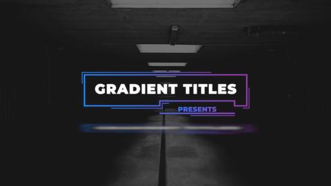 Gradient Titles Apple Motion Template