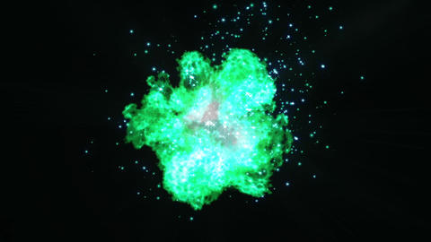 green Explosion spark particle animation Animation