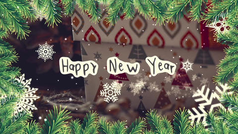Happy New Year and Merry Christmas After Effects Template