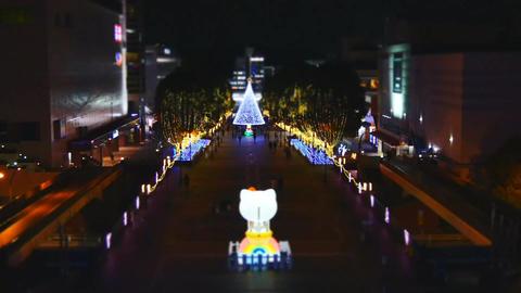 Christmas illumination in Tokyo Footage